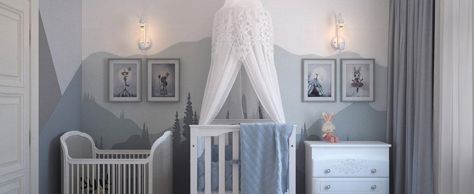 Inspirações: Ideias de papel de parede para o quarto do bebê